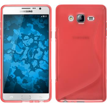 Silicone Case for Samsung Galaxy On7 S-Style red