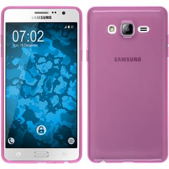 Silicone Case for Samsung Galaxy On7 transparent pink