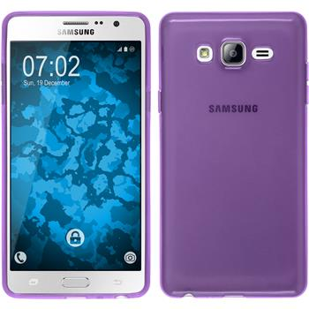 Silicone Case for Samsung Galaxy On7 transparent purple
