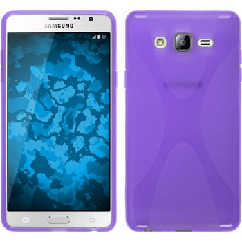 Silicone Case for Samsung Galaxy On7 X-Style purple