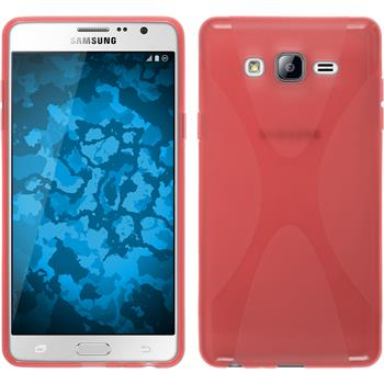 Silicone Case for Samsung Galaxy On7 X-Style red