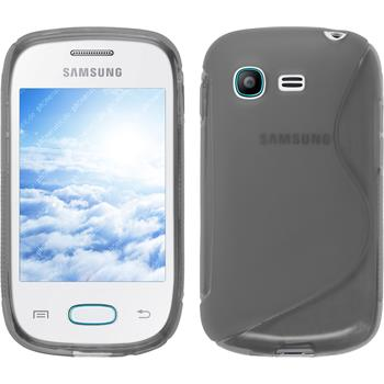 Silicone Case for Samsung Galaxy Pocket Neo S-Style gray