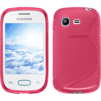 Silicone Case for Samsung Galaxy Pocket Neo S-Style hot pink