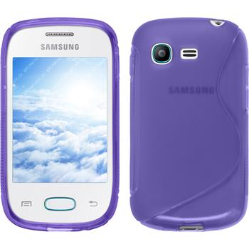 Silicone Case for Samsung Galaxy Pocket Neo S-Style purple