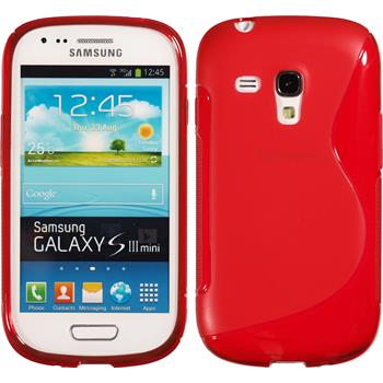 Silicone Case for Samsung Galaxy S3 Mini S-Style red
