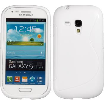 Silicone Case for Samsung Galaxy S3 Mini S-Style white