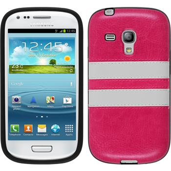 Silicone Case for Samsung Galaxy S3 Mini Stripes hot pink