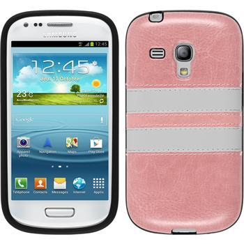Silicone Case for Samsung Galaxy S3 Mini Stripes pink