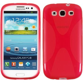 Silicone Case for Samsung Galaxy S3 Neo X-Style red