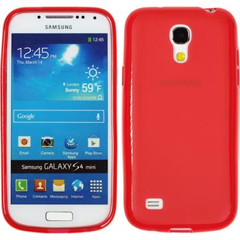 Silicone Case for Samsung Galaxy S4 Mini Frosted red