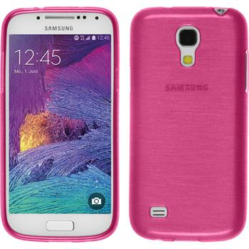 Silicone Case for Samsung Galaxy S4 Mini Plus brushed hot pink