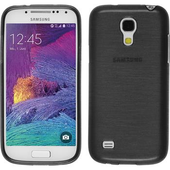 Silicone Case for Samsung Galaxy S4 Mini Plus brushed silver