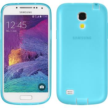 Silicone Case for Samsung Galaxy S4 Mini Plus Dustproof light blue