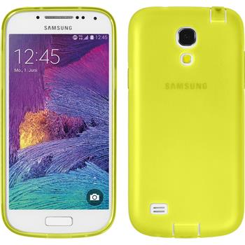 Silicone Case for Samsung Galaxy S4 Mini Plus Dustproof yellow