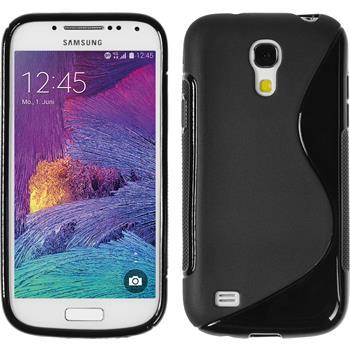 Silicone Case for Samsung Galaxy S4 Mini Plus S-Style black