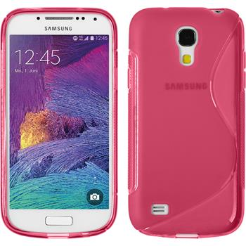 Silicone Case for Samsung Galaxy S4 Mini Plus S-Style hot pink