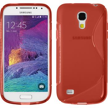 Silicone Case for Samsung Galaxy S4 Mini Plus S-Style red