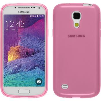 Silicone Case for Samsung Galaxy S4 Mini Plus transparent pink