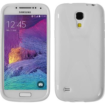Silicone Case for Samsung Galaxy S4 Mini Plus X-Style white