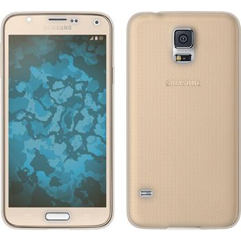 Silicone Case for Samsung Galaxy S5 360° Fullbody gold