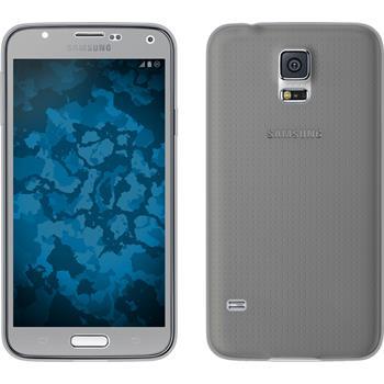 Silicone Case for Samsung Galaxy S5 360° Fullbody gray