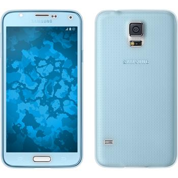 Silicone Case for Samsung Galaxy S5 360° Fullbody light blue