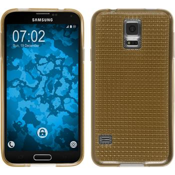 Silicone Case for Samsung Galaxy S5 Iced gold