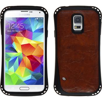 Silicone Case for Samsung Galaxy S5 leather optics maroon