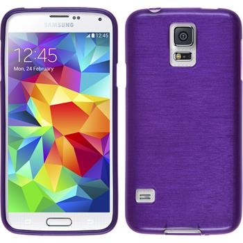 Silicone Case for Samsung Galaxy S5 mini brushed purple