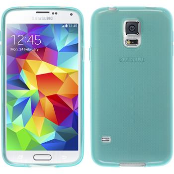 Silicone Case for Samsung Galaxy S5 mini transparent turquoise