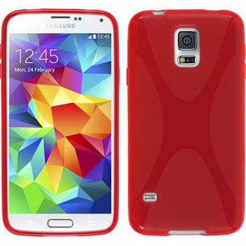 Silicone Case for Samsung Galaxy S5 mini X-Style red