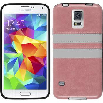 Silicone Case for Samsung Galaxy S5 Neo Stripes pink