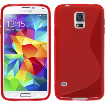 Silicone Case for Samsung Galaxy S5 S-Style red