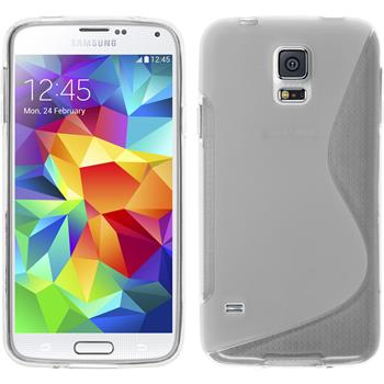 Silicone Case for Samsung Galaxy S5 S-Style transparent