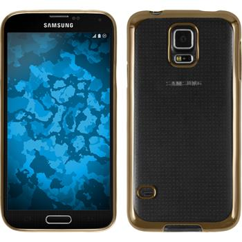 Silicone Case for Samsung Galaxy S5 Slim Fit gold