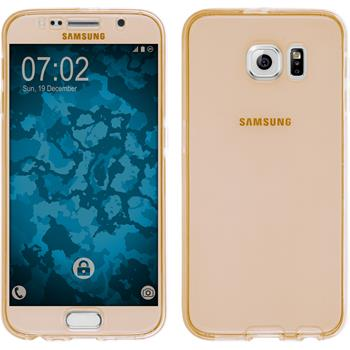Silicone Case for Samsung Galaxy S6 360° Fullbody gold