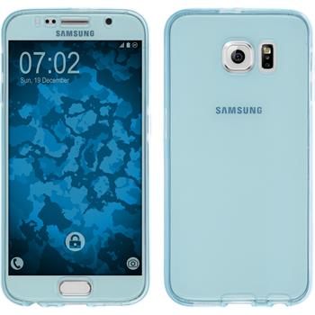 Silicone Case for Samsung Galaxy S6 360° Fullbody light blue