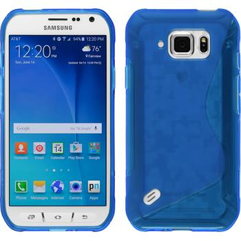 Silicone Case for Samsung Galaxy S6 Active S-Style blue