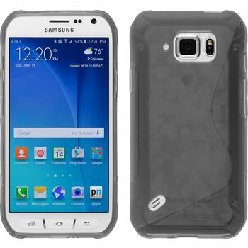 Silicone Case for Samsung Galaxy S6 Active S-Style gray