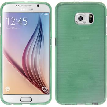 Silicone Case for Samsung Galaxy S6 brushed green
