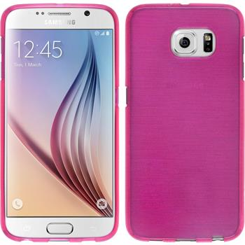 Silicone Case for Samsung Galaxy S6 brushed hot pink