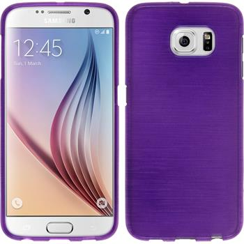 Silicone Case for Samsung Galaxy S6 brushed purple