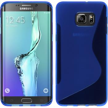 Silicone Case for Samsung Galaxy S6 Edge Plus S-Style blue