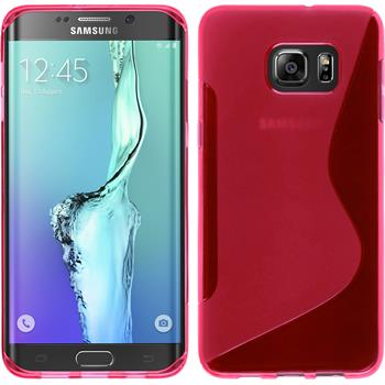 Silicone Case for Samsung Galaxy S6 Edge Plus S-Style hot pink