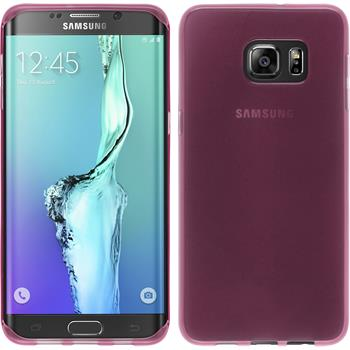 Silicone Case for Samsung Galaxy S6 Edge Plus transparent pink