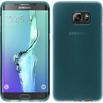 Silicone Case for Samsung Galaxy S6 Edge Plus transparent turquoise