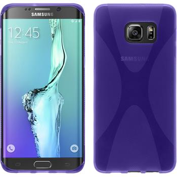 Silicone Case for Samsung Galaxy S6 Edge Plus X-Style purple