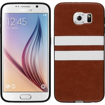 Silicone Case for Samsung Galaxy S6 Stripes brown