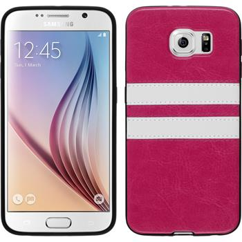 Silicone Case for Samsung Galaxy S6 Stripes hot pink