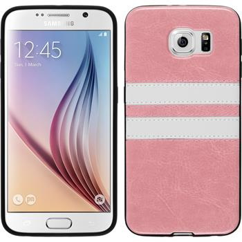 Silicone Case for Samsung Galaxy S6 Stripes pink